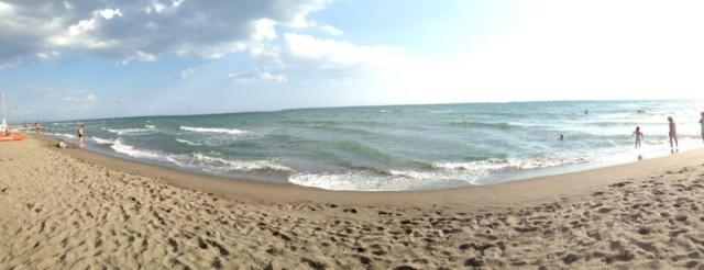 Mare, spiaggia, orizzonte