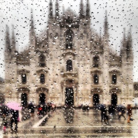 Quando piove a Milano