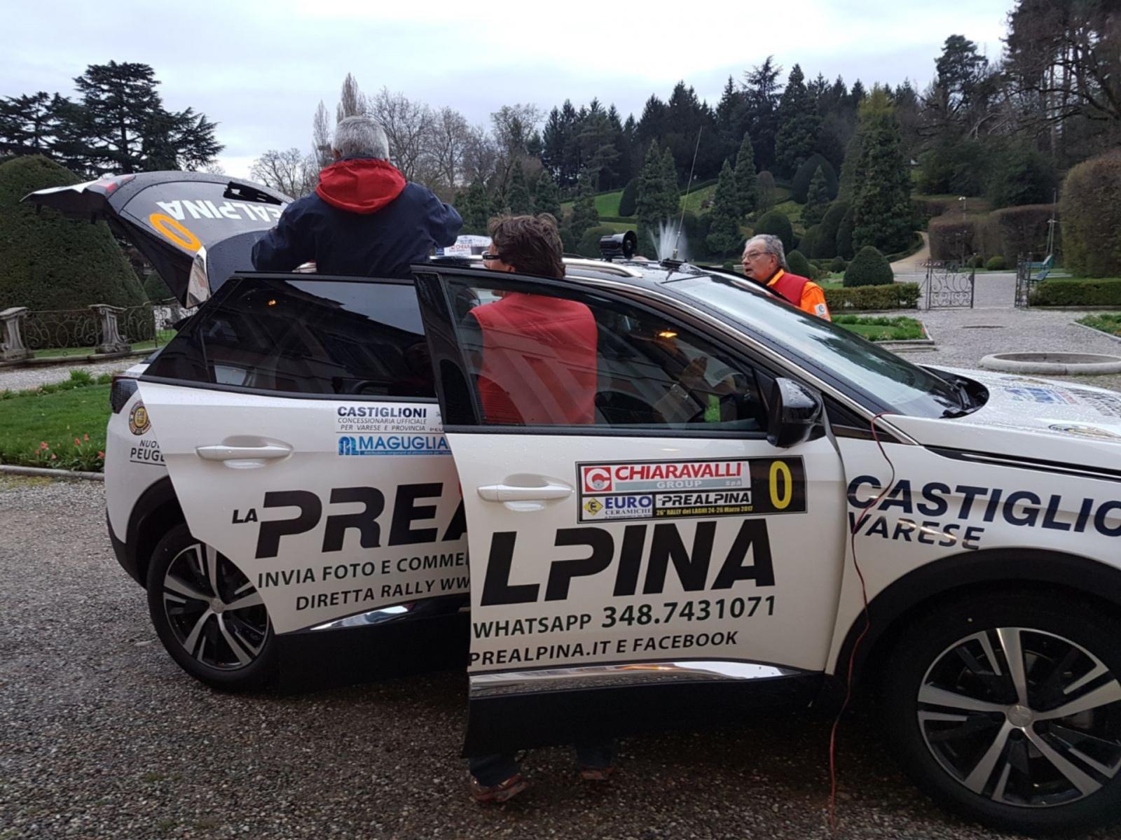Verifiche piazza Monte Grappa Rally dei Laghi