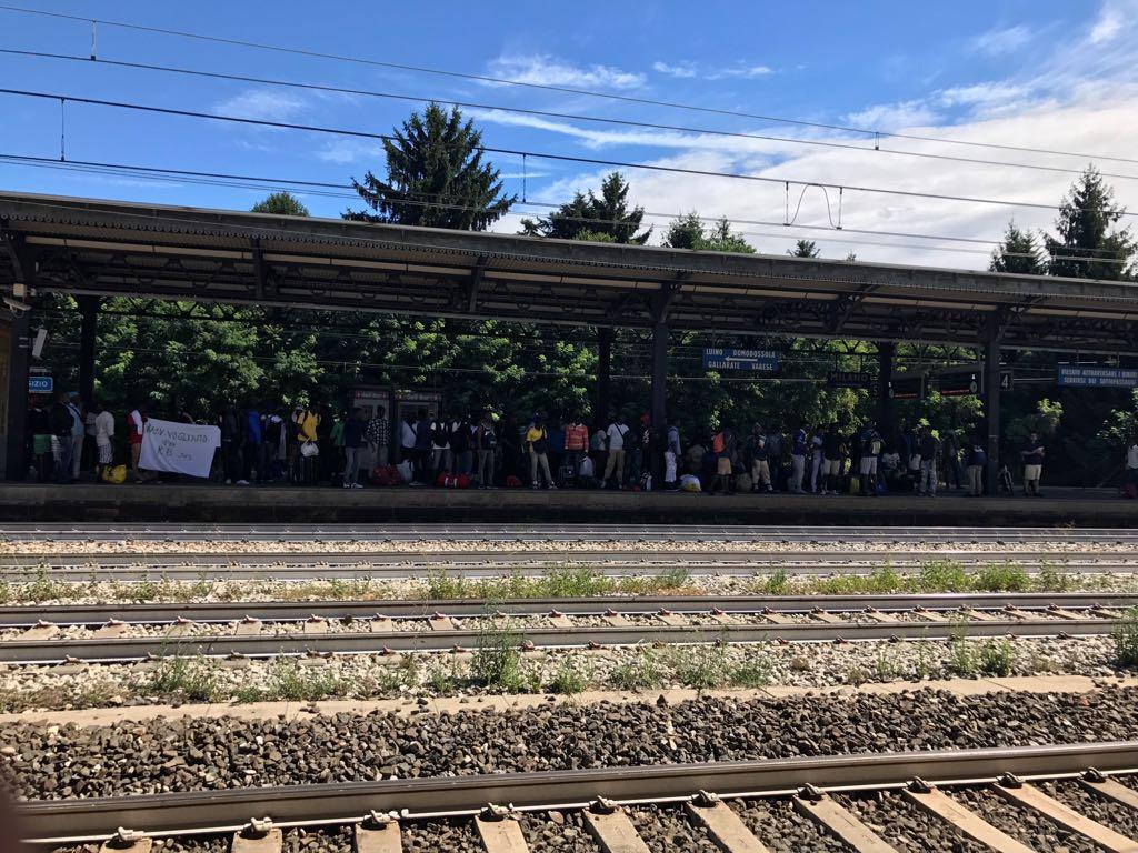 La marcia dei profughi