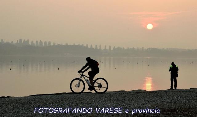 Un tramonto in bici
